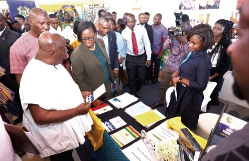 """President Akufo-Addo visits Ministry of Finance stand at the Results Fair"""